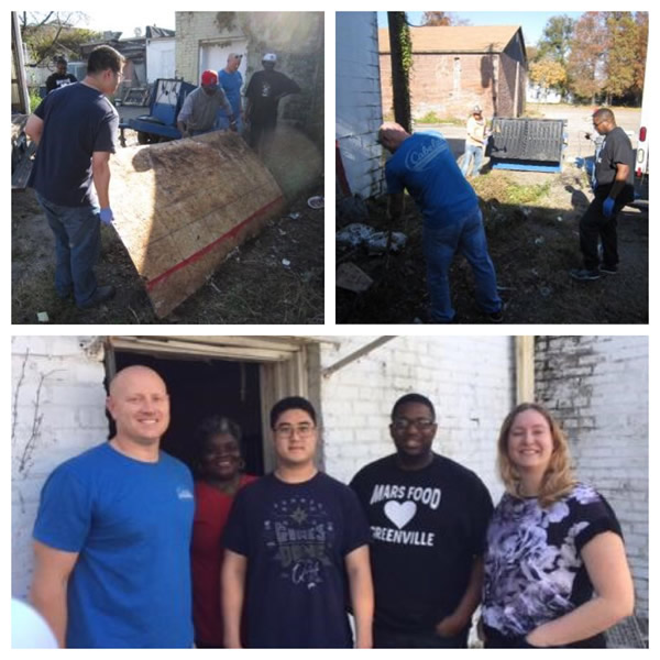 Local Mars Volunteers jumped into action with a day of service to clean up a food bank impacted by a neighboring fire (Greenville, MS) Web Version