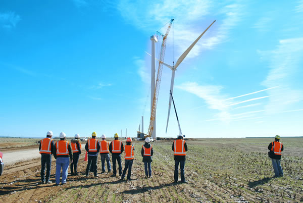 Mesquite Creek Wind Farm Turbine Construction  (Lamesa, TX) Web Version